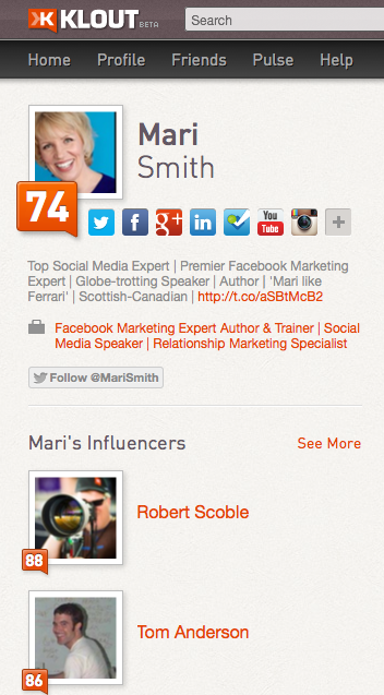 Finding Influencers of the Influencer using Klout