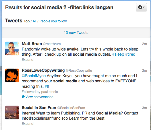 Twitter Search String